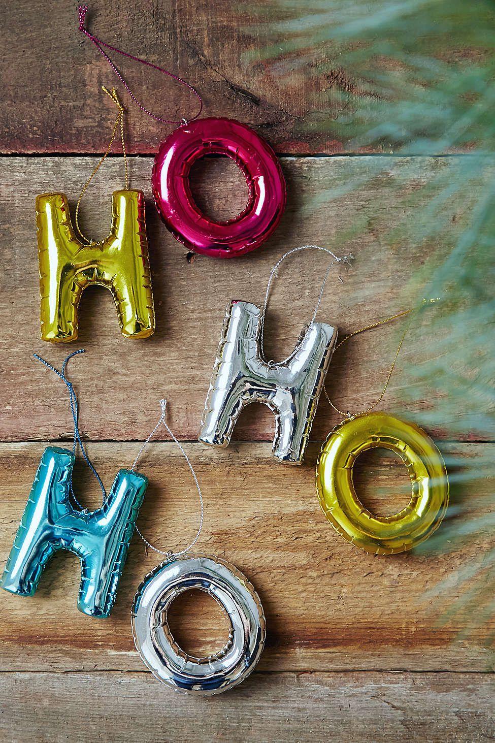 Gold balloon letter ornament noel pinterest letter