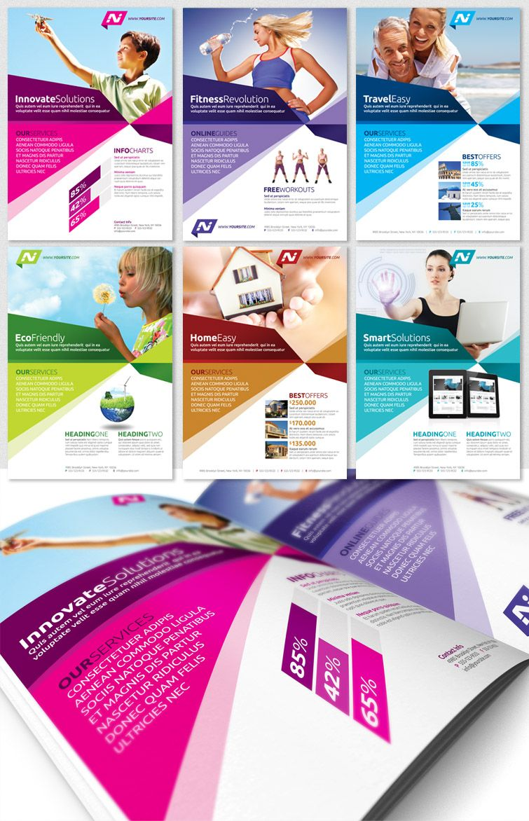 Doc.#700434: Advertising Flyer Template – Free Flyer Templates (+ ...
