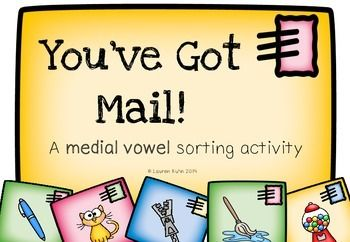 You've Got Mail! A medial vowel sorting activity (with bonus worksheets)