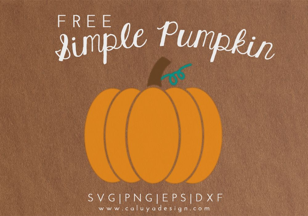 Simple Pumpkin Free SVG, PNG, EPS & DXF Download ...