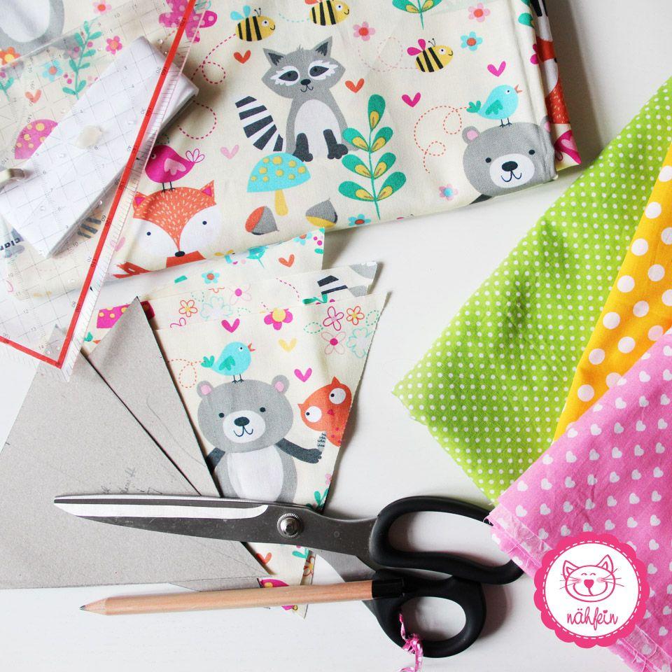 Kinderzimmer deko nähen  niedliche Stoffe brauchen ein niedliches Projekt - Kinderzimmerdeko ...