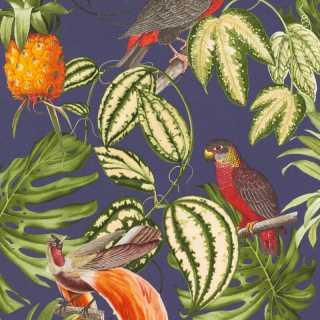 Erismann Birds of Paradise Blue/Multi Wallpaper 630208