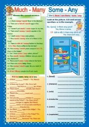 english teaching worksheets some any much many english exercises teaching english english. Black Bedroom Furniture Sets. Home Design Ideas