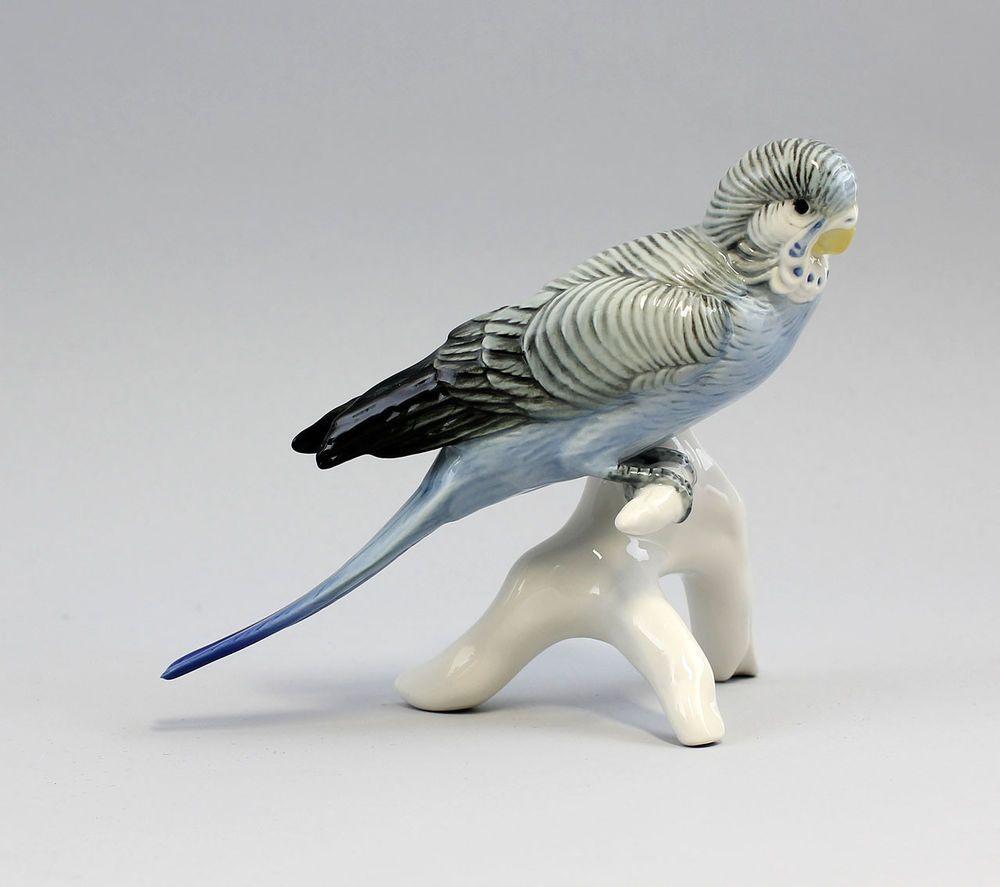 41044 Ens Vogel-Figur Wellensittich blau Thüringen | porcelain birds ...