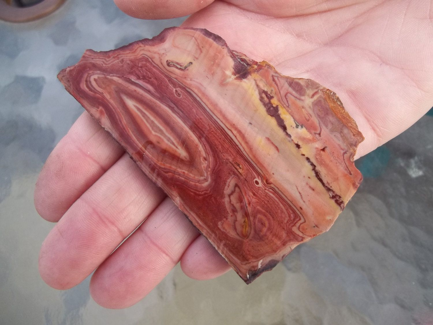 Wonderstone slab from a vintage collection  #117 by JIMMYDEANSGEMSTONES on Etsy