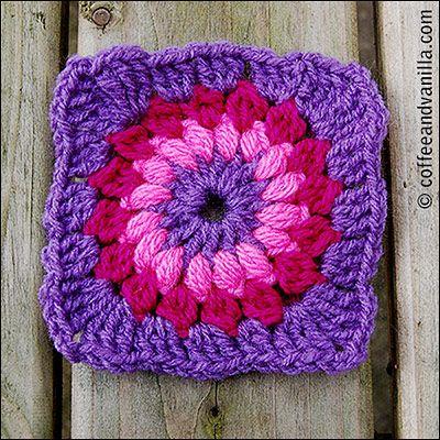 Sunburst - Flowery Granny Square Crochet Pattern | Stricken und Häkeln