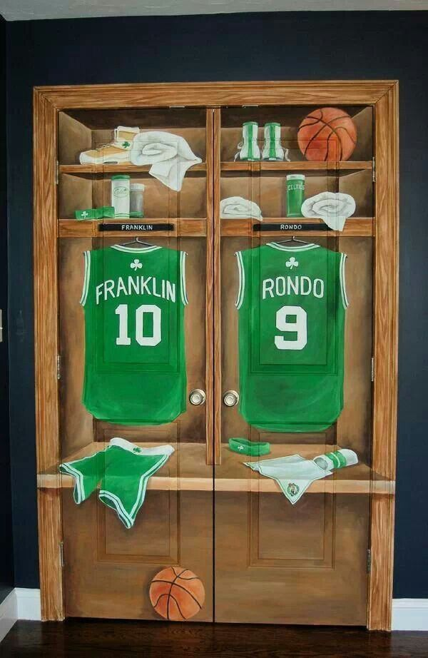 Custom Basketball Locker Bedroom Doors Murals Except Do Baseball For Noah