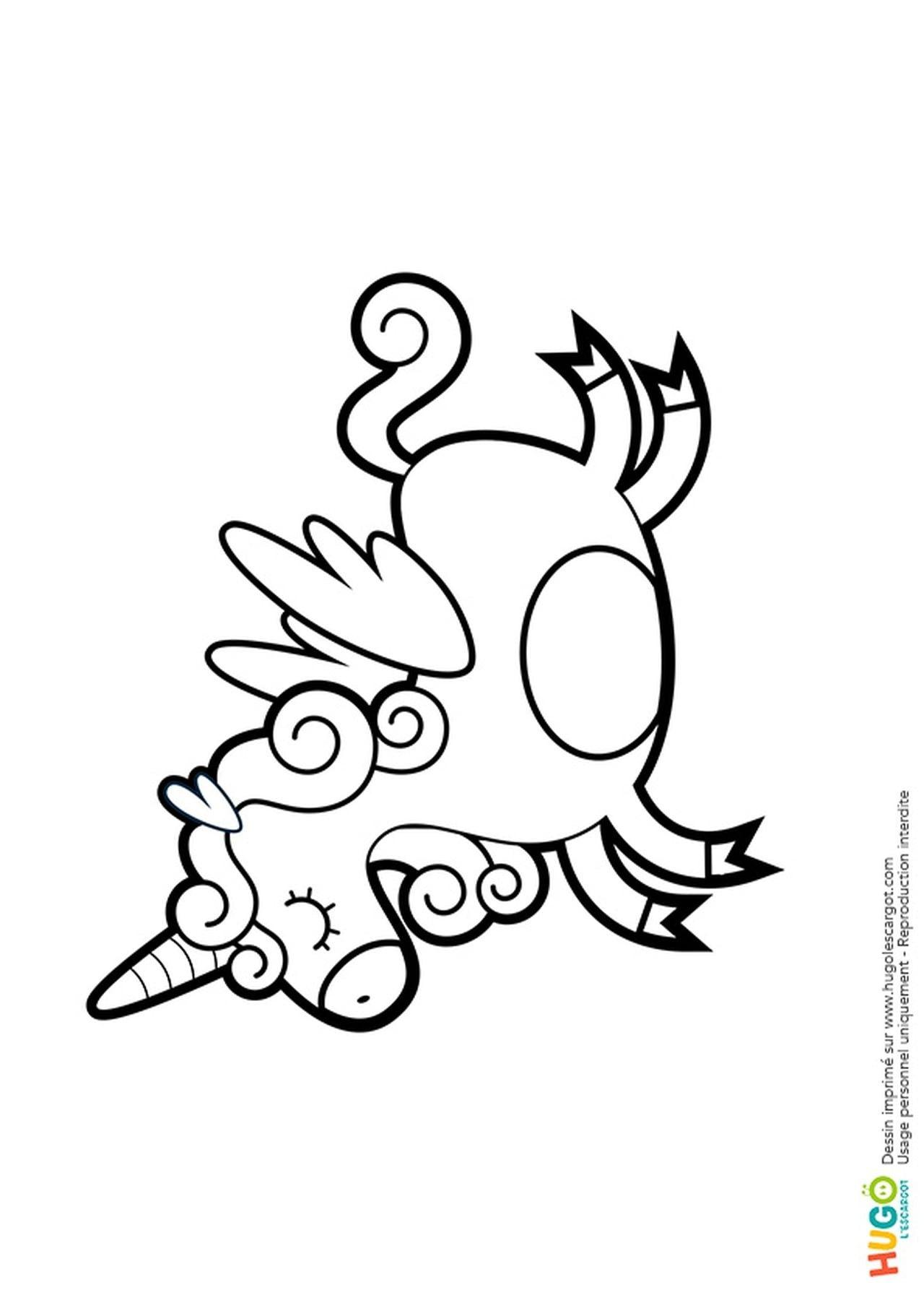 Coloriage Licorne Kawaii En Ligne Gratuit Imprimer Avec 10835753