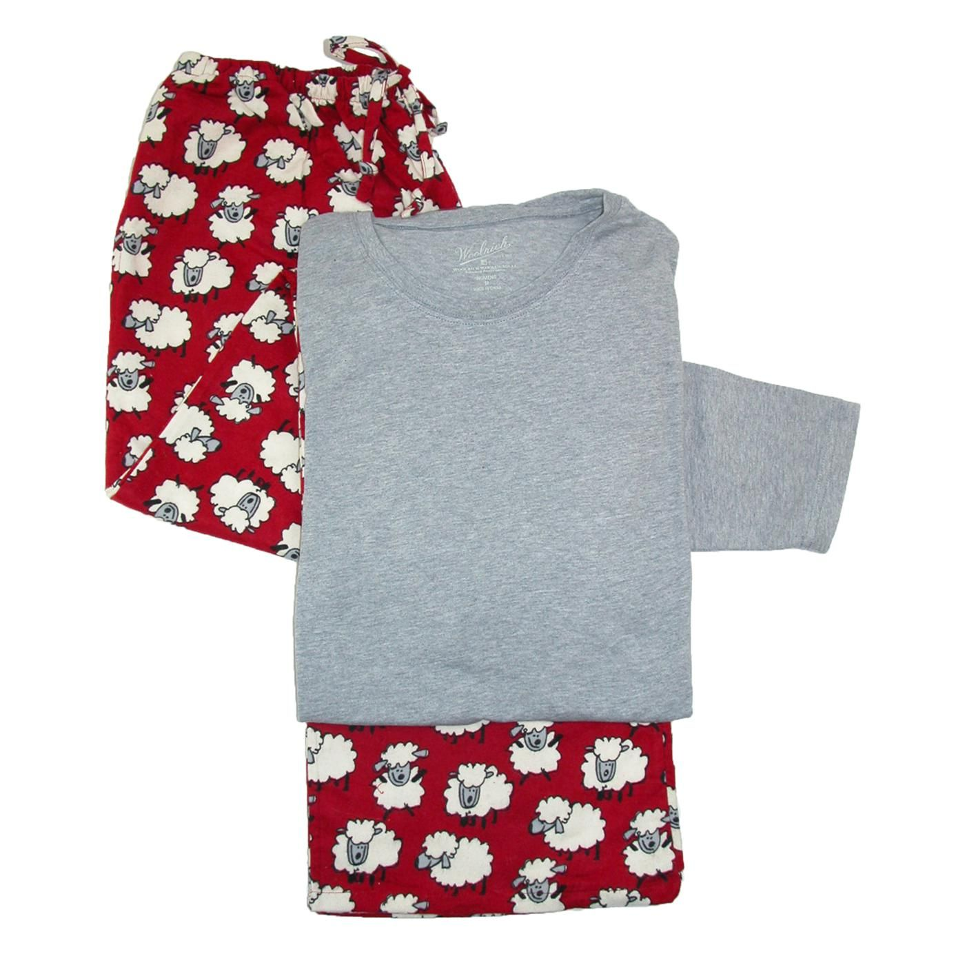 Red flannel pajamas  Cozy Cotton Flannel Set for Women by Woolrich The pants are a comfy