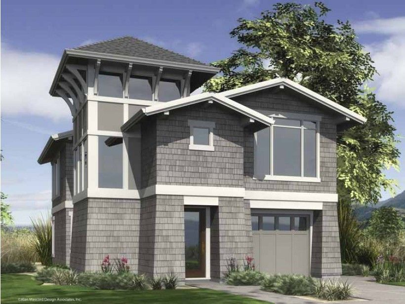 Build your ideal home with this Contemporary-Modern house plan with