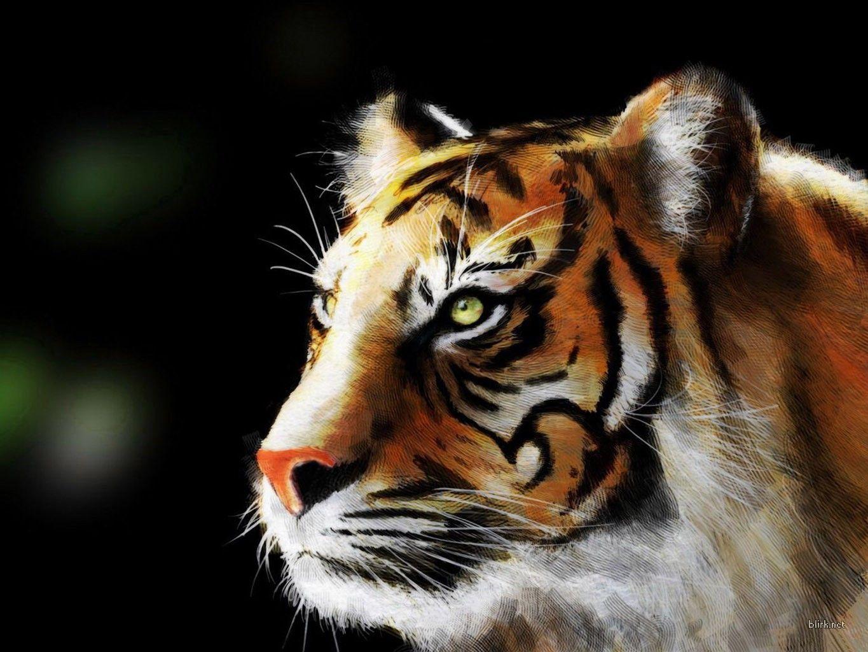 fractal+animals | tiger fractal, animals, tiger | cute