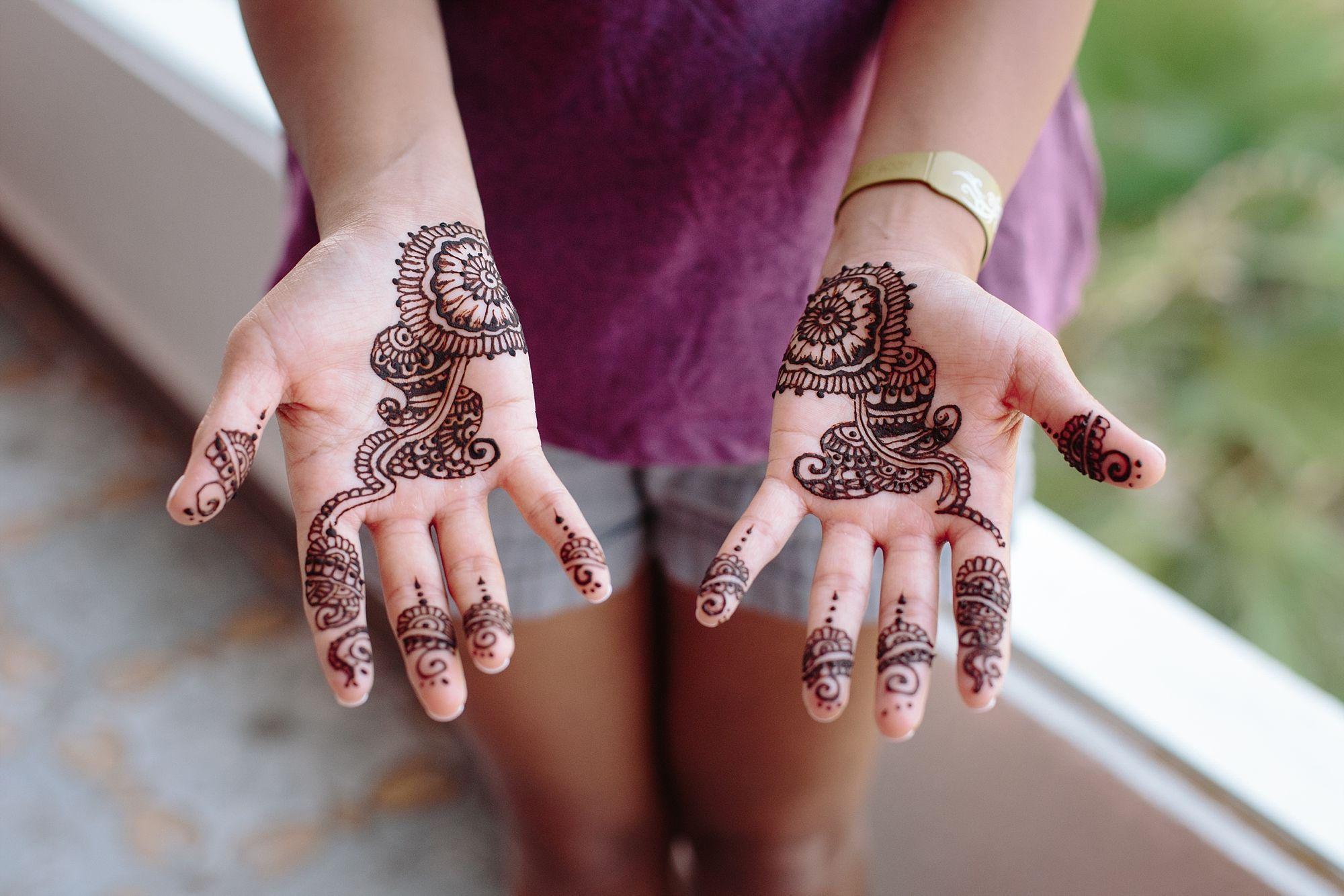 Intricate henna design photo by top destination wedding