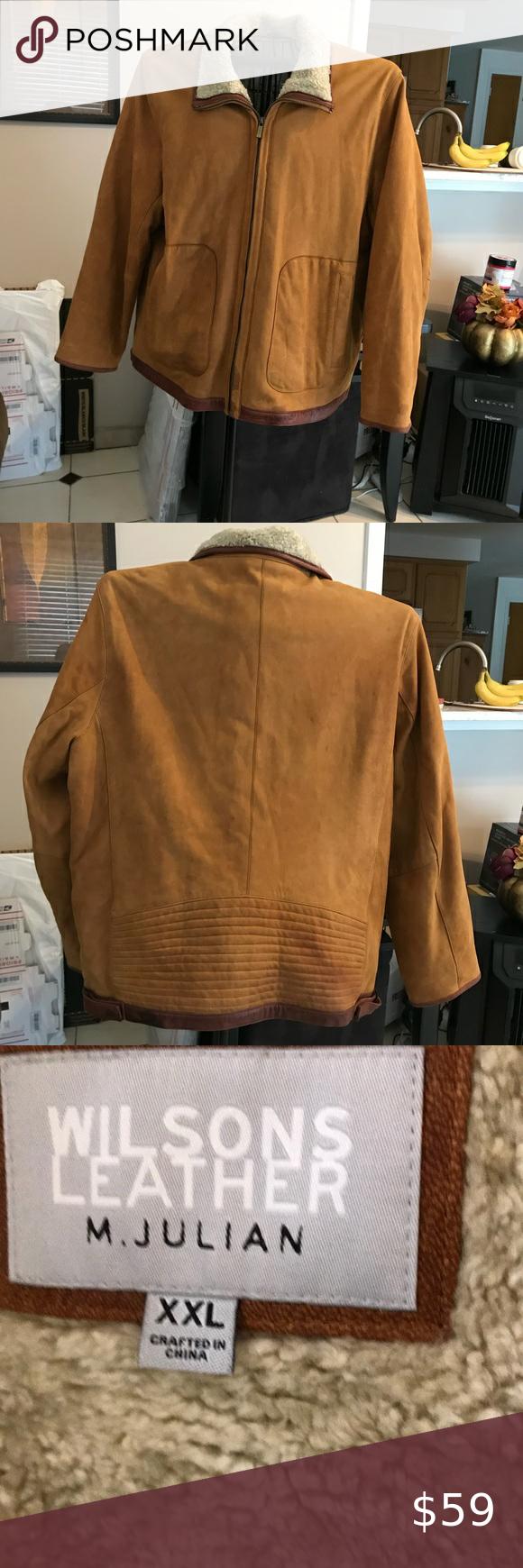 Men S Wilson Leather Jacket Xxl Wilsons Leather Suede Jacket Men Leather Jacket [ 1740 x 580 Pixel ]