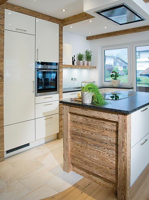 Küche im original naturbelassenem Altholz-Design (B - nobilia küchenfronten farben