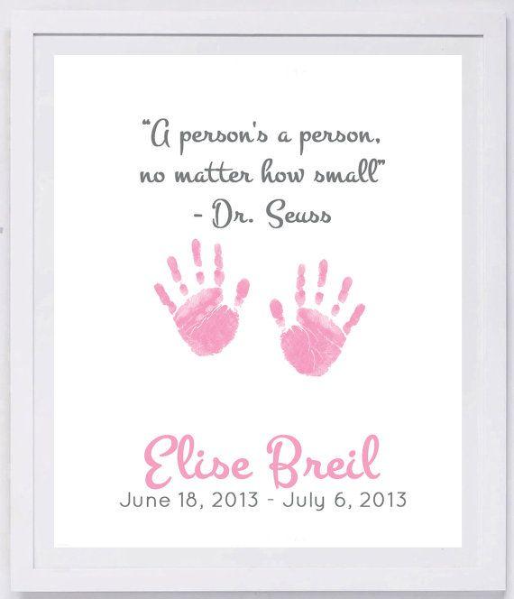 Dr Seuss Handprint Or Footprint Quote Keepsake 2400 Pap