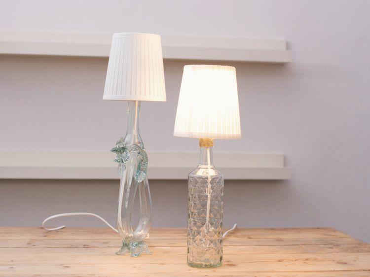 Tutoriales Diy Como Hacer Una Lampara Con Una Botella Via Dawanda Com Lampe Aus Flaschen Lampen Diy Flasche