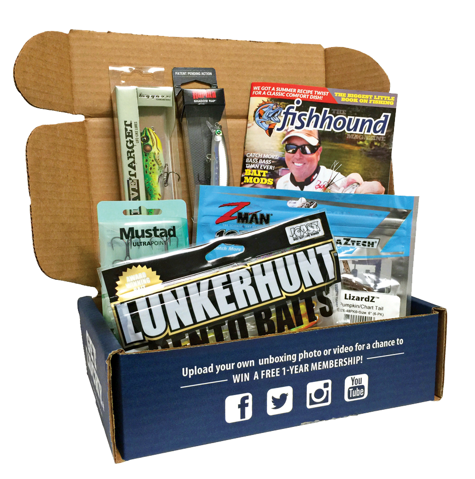 The best monthly fishing subscription box lucky tackle for Fishing box subscription
