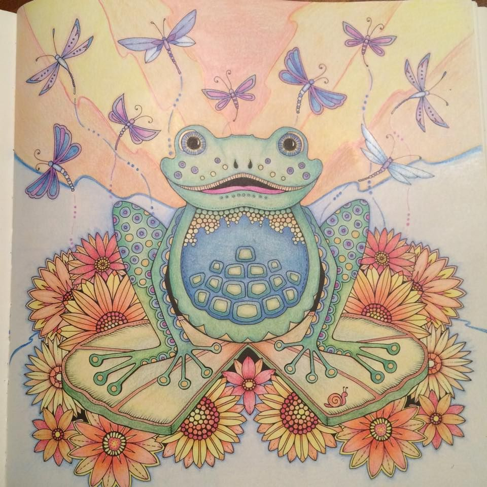 Johanna Basford Coloring Enchanted Forest Frog