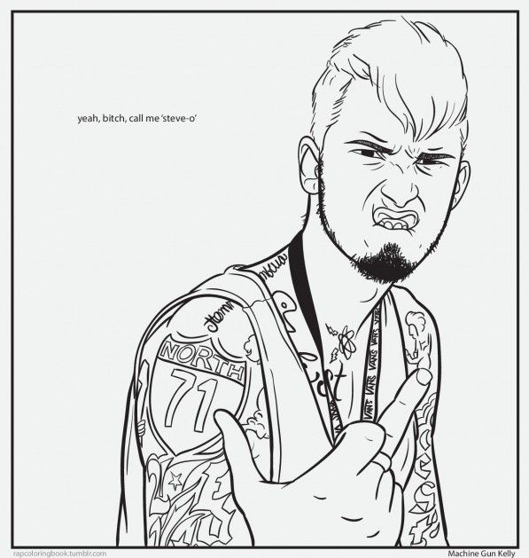Bun b rap coloring book machine gun kelly 597 for Rapper coloring pages