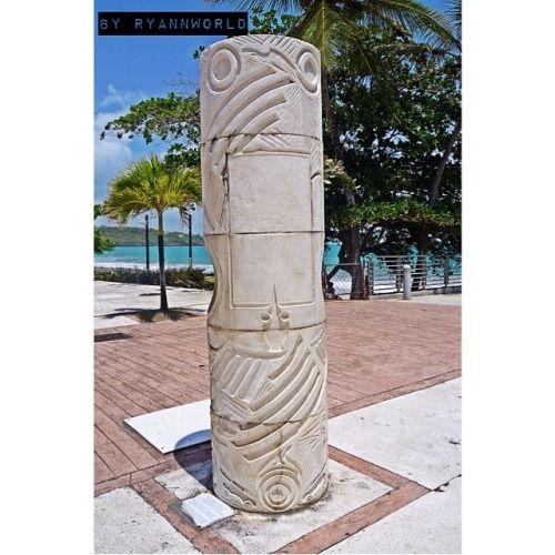 Totem Diamant Martinique-art -west Indies