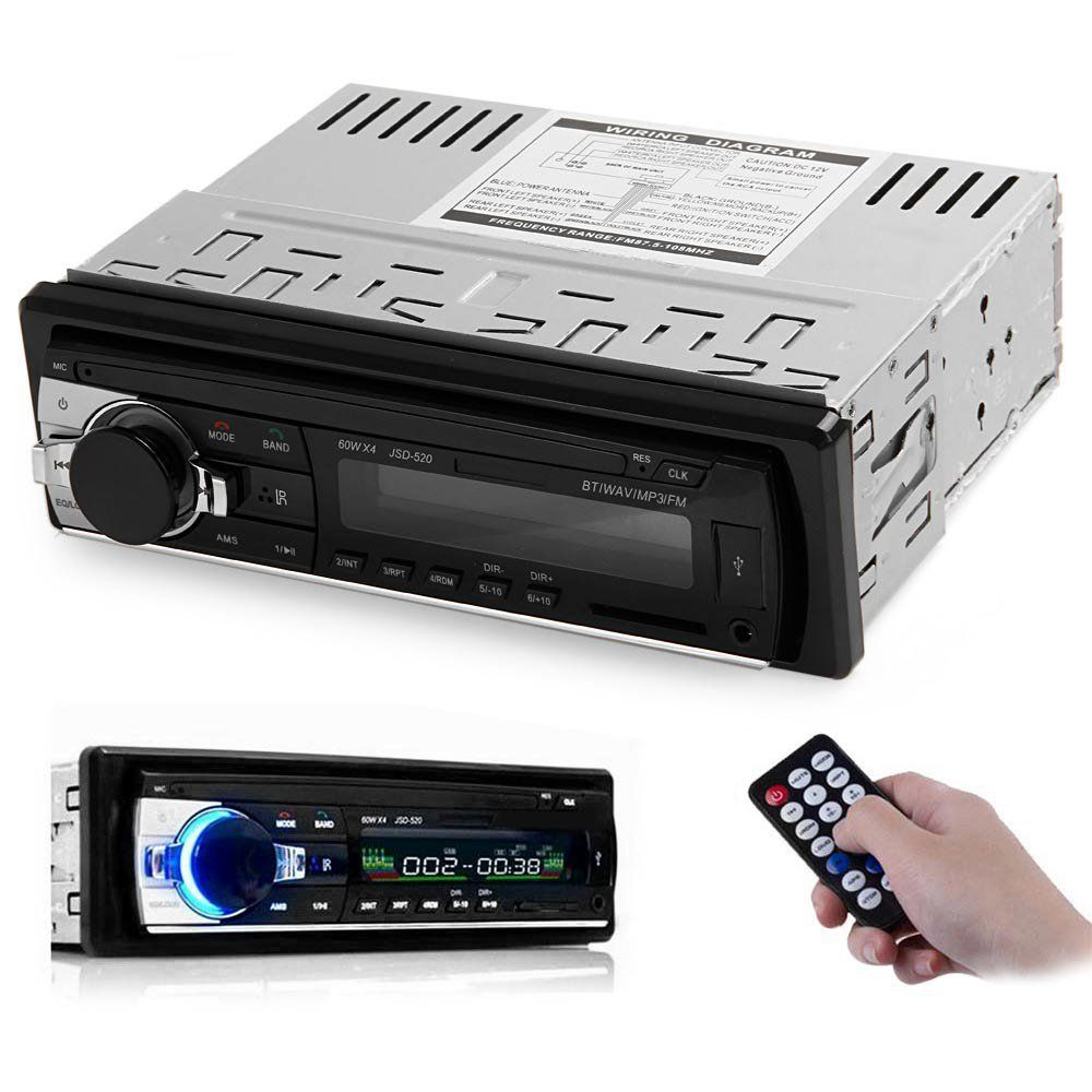 Autolover 12v Bluetooth V2 0 Car Audio Stereo Mp3 Mmc Wma Radio