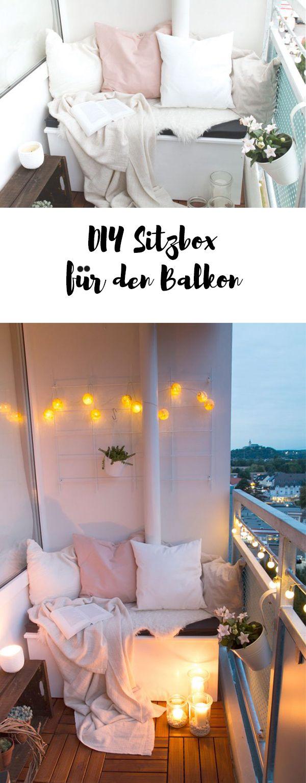 DIY Sitzbox & Tipps für einen gemütlichen Balkon | ars textura - DIY Blog