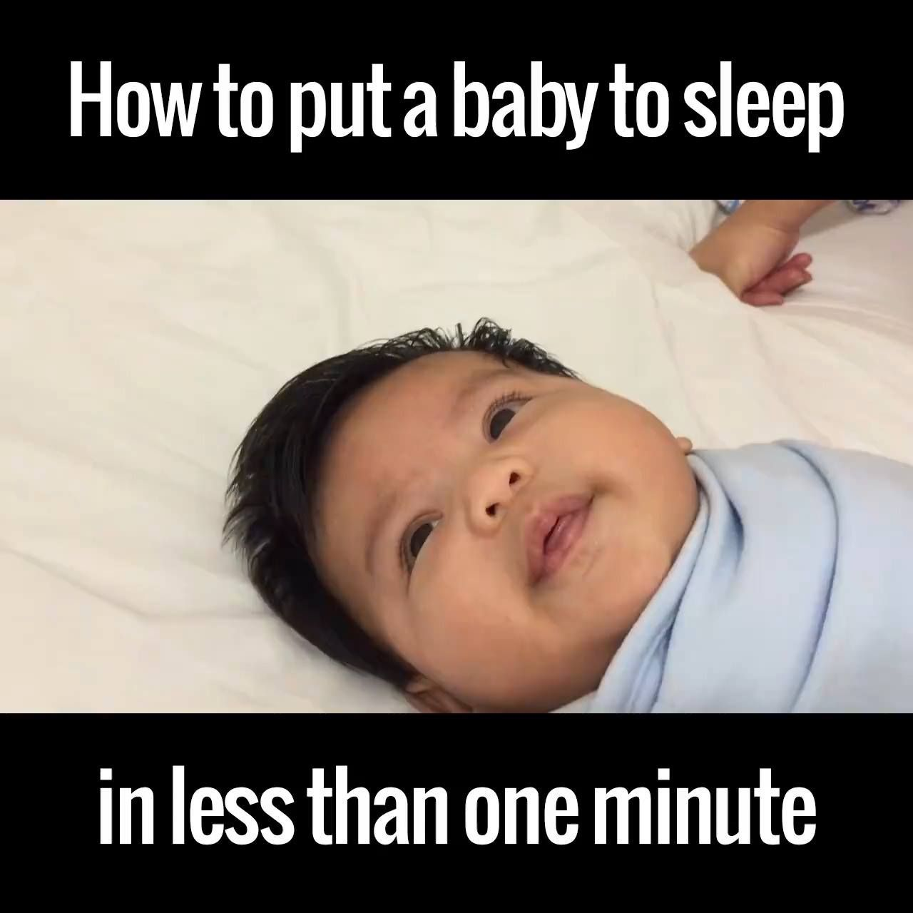 How to quickly put a baby to sleep parents take note