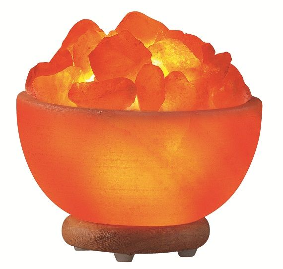 Himalayan Salt Rock Bowl Lamp  $52.98 ~ Hand Carved Himalayan Salt Lamps  Experience cleaner air, healthier breathing and a warm, relaxing glow with these unique, functional works of art! Each piece is distinctly hand carved to retain it's unique, natural look and the beauty of salt crystals, so no two salt lamps are exactly alike!