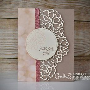 Delicate So Detailed For You | Stampin Up Demonstrator Linda Cullen | Crafty Stampin' | Purchase your Stampin' Up Supplies | So in Love Stamp Set | So Detailed Thinlits | Falling in Love DSP