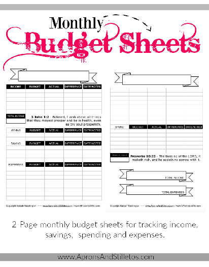 printable monthly budget sheet budgeting financial planning