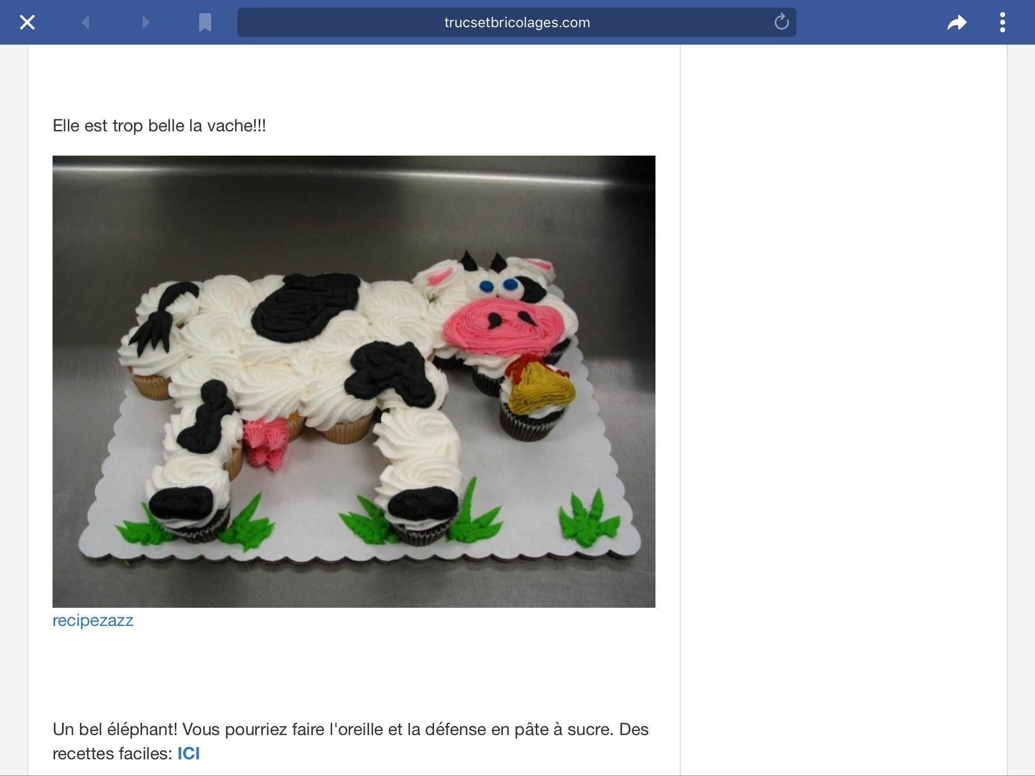 Épinglé par Melanie Paille sur Cup cakes | Vache, Recette ...