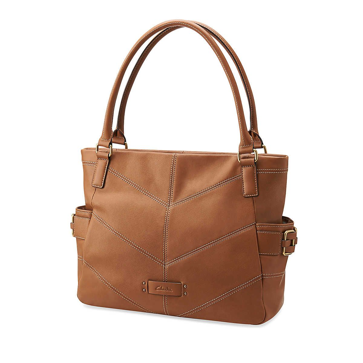 Geo Satchel in Cognac - Accessories Womens from Clarks (comes in a multi color in store that is awesome.)
