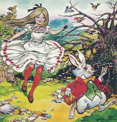 Alice in Wonderland Postcards, Greetings Cards, Art Prints, Canvas, Framed Pictures, T-shirts & Wall Art by Jesus Blasco