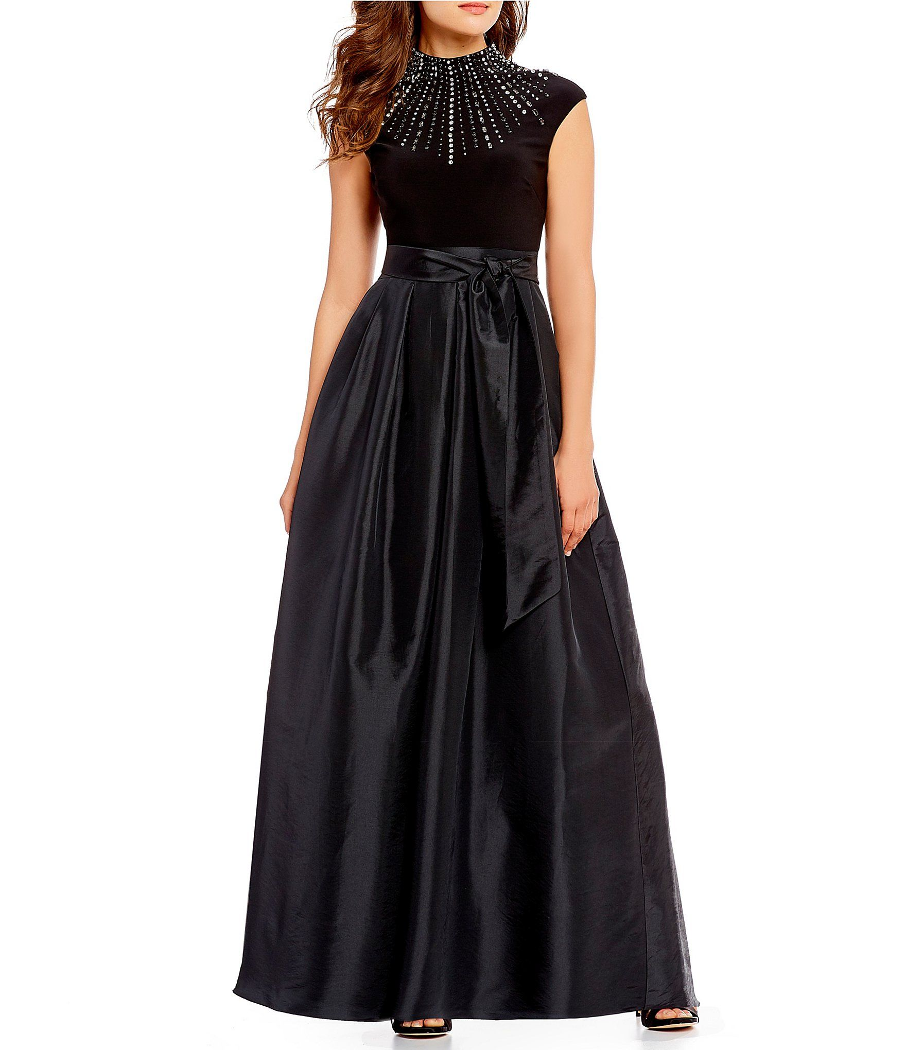 66ad935b8805 Vince Camuto Beaded Neck Ball Gown  Dillards