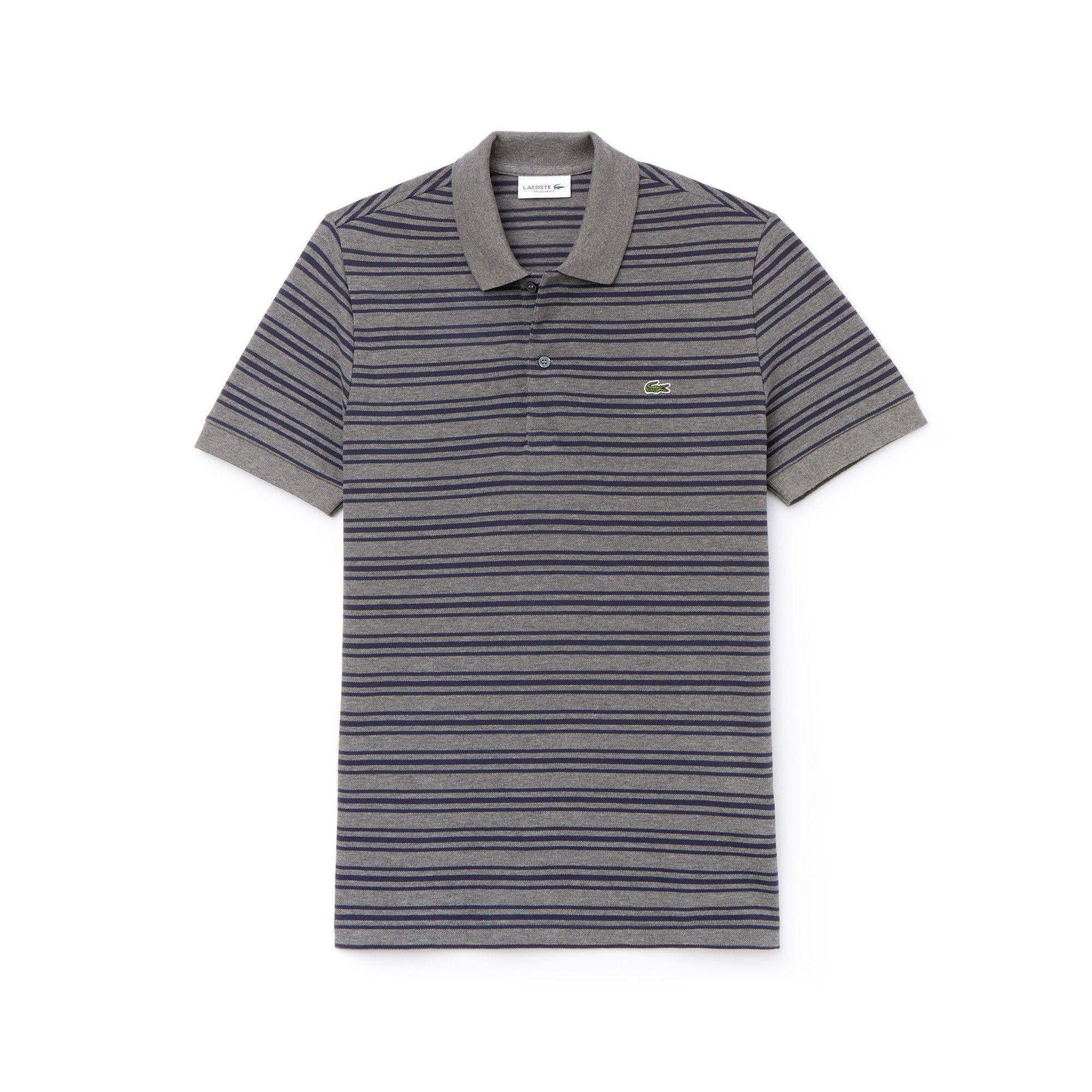 bb18d660 Lacoste Men's Regular Fit Striped Cotton Petit Piqué Polo - Stone  Chine/Meridian Blue 3Xl 8 Green