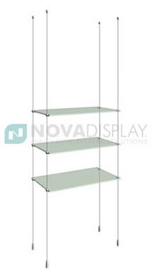 cable shelving systems cable suspended glass shelving kits glass rh pinterest ca