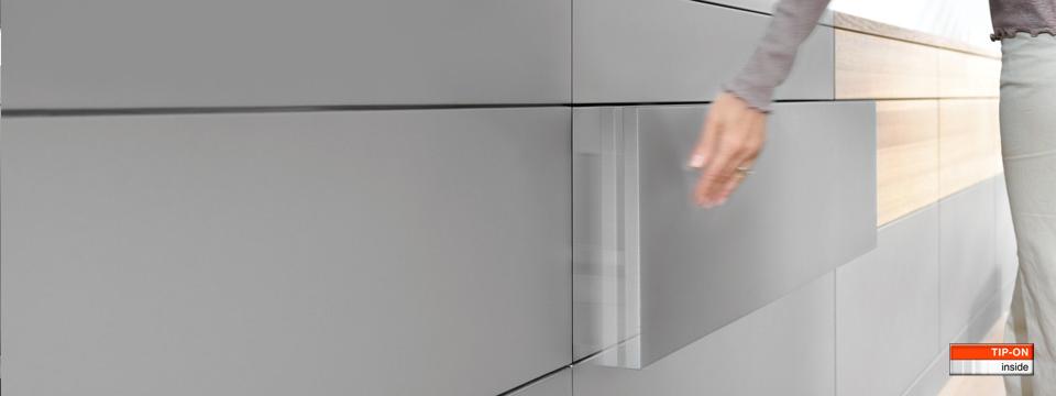 Blum hardware - garbage door that opens with knee knock! Doors and ...