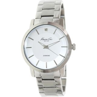 Kenneth Cole Men's KC9285 Silver Stainless-Steel Quartz Watch with Silver Dial