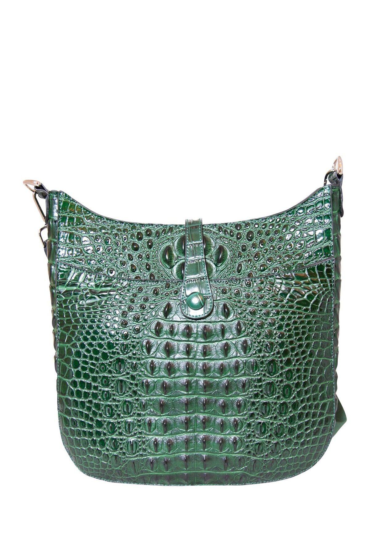 2c6c0632ed Tiffany and Fred Crocodile Embossed Leather Messenger Bag | fashion ...