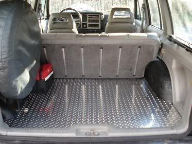 Cherokee Diamond Plate Rear Floor Jeeps Jeep Mods