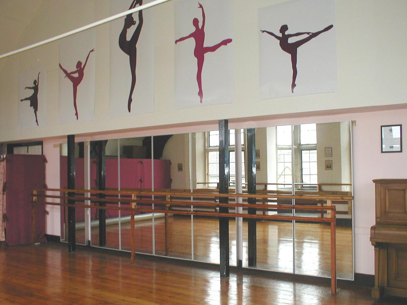 Vinyl cutouts for dance room life of a dancemom for Porte arts and dance studio