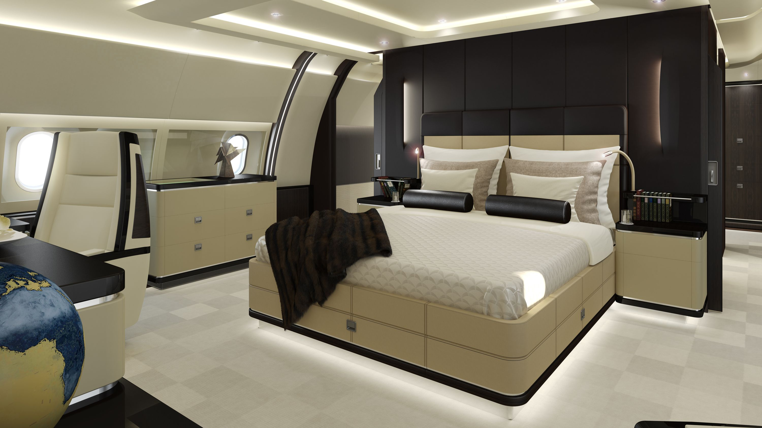 Lovely Private Jets With Bedrooms   Decoration Home Interior