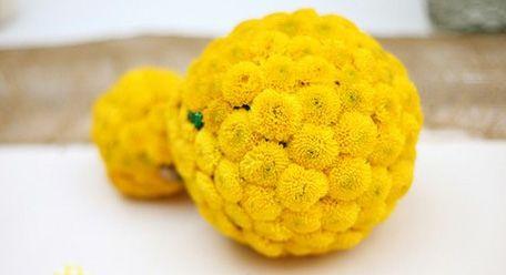 Yellow flower balls flowers pinterest flower ball and weddings yellow flower balls mightylinksfo