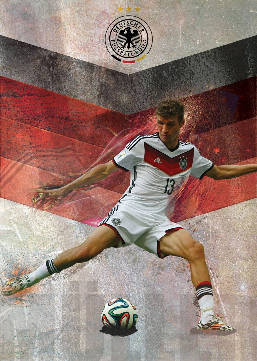 Germany Team World Cup Final 2014 POSTER