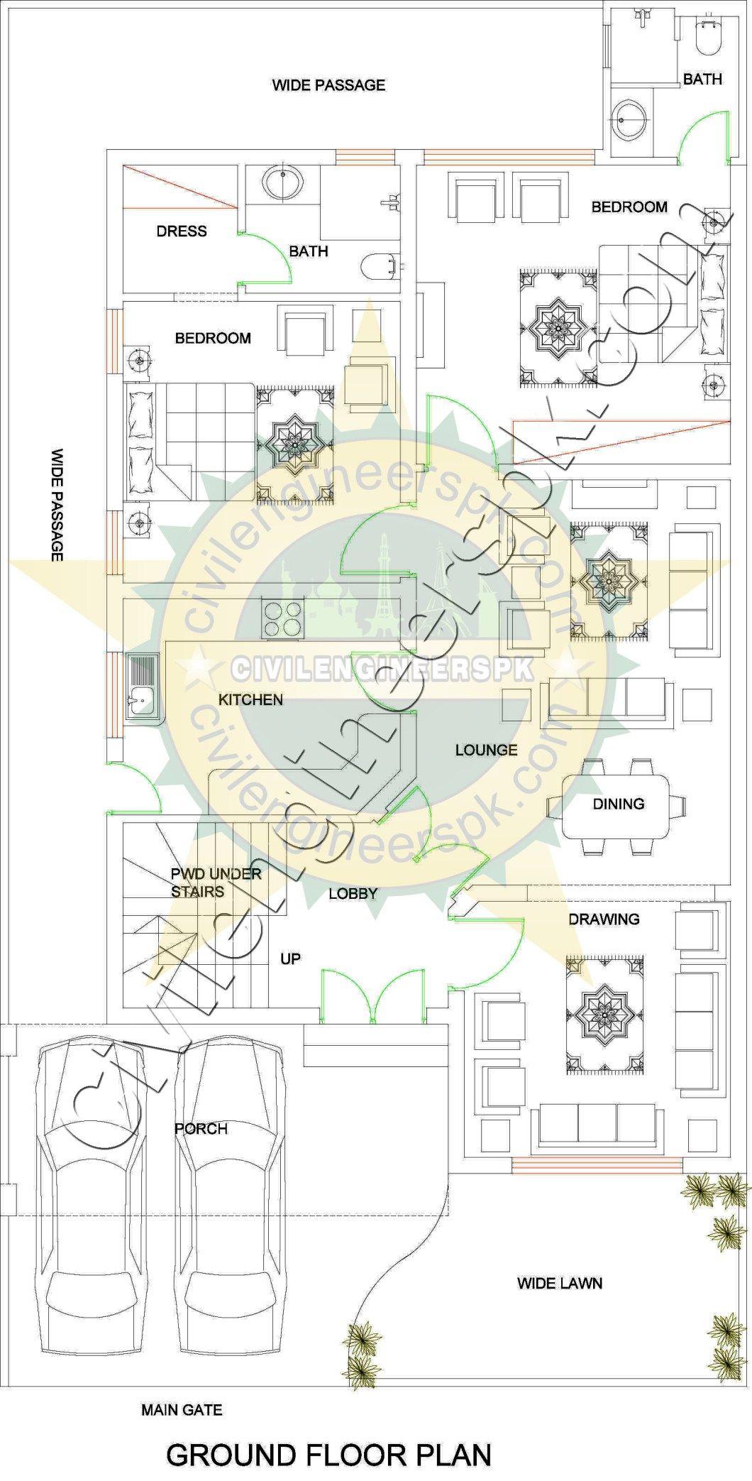 10 Marla Beautiful House Design Civil Engineers PK