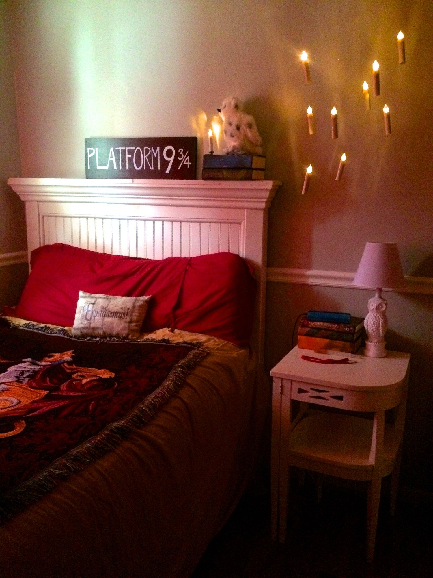Floating Candles For The Harry Potter Bedroom
