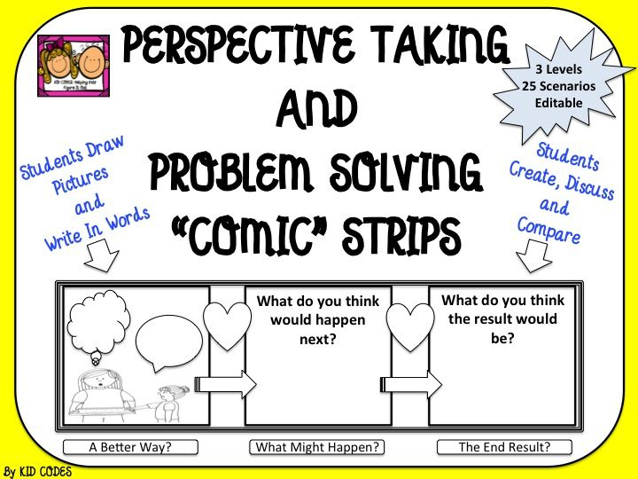 Perspective Taking And Problem Solving Comic Strip Style