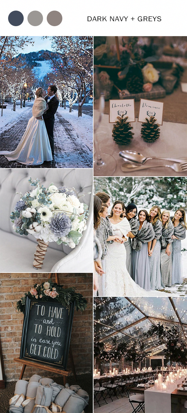 Top Winter Wedding Color Ideas for amp in