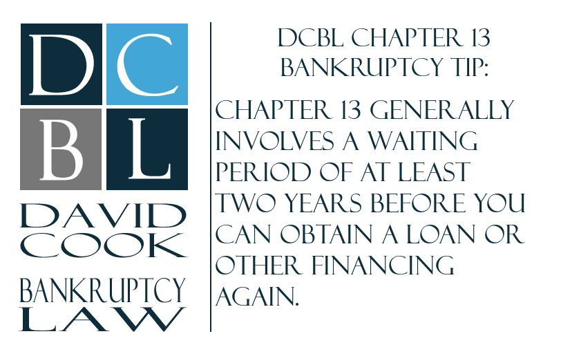 DCBL Chapter 13 Bankruptcy tip Chapter 13 generally involves a