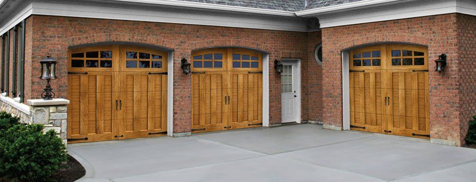 Ideal Door Company #4 - Holmes Garage Door Company Glenmoor™ Collection Ultra-Grain® Series  Wood-look Carriage House Garage Doors Available At Hardware Retailers.